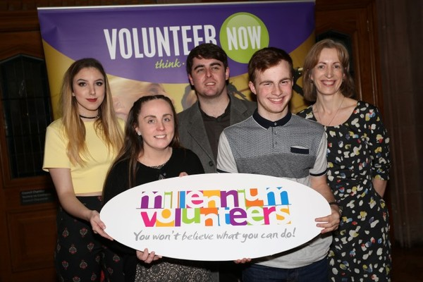 Volunteers from Shantallow YC at the MV Award Ceremony Londonderry 2017